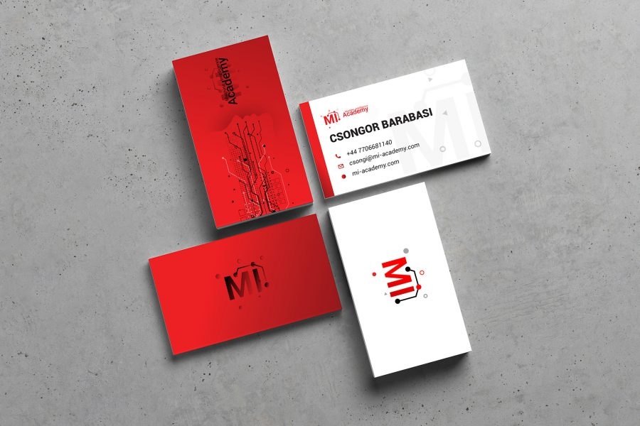 Barabasi Csongor Machine Itelligance Achademy Romania United Kingdom Brand and Identity logo si carte de vizita website wordpress cluj napoca targu mures ardeal